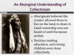 an aboriginal understanding of collectivism