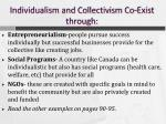 individualism and collectivism co exist through