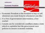 individualism economic freedom