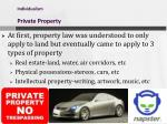 individualism private property