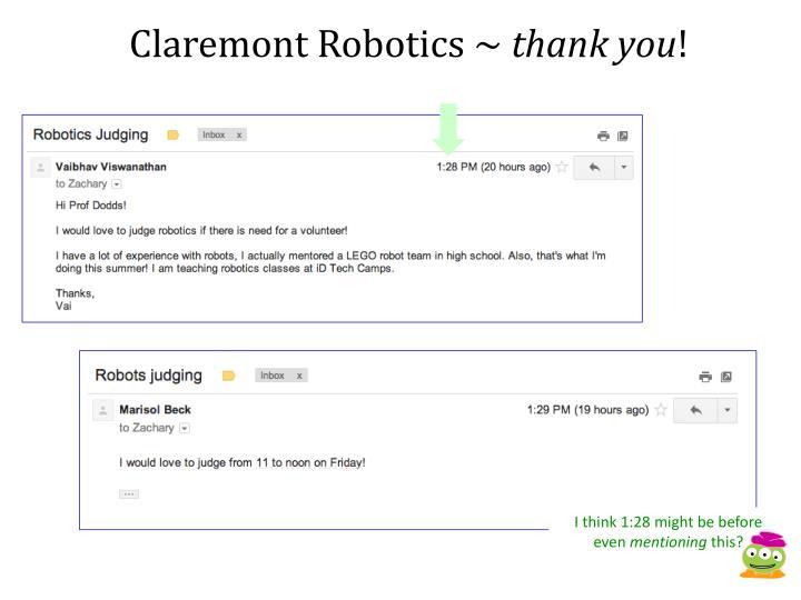 Claremont Robotics ~