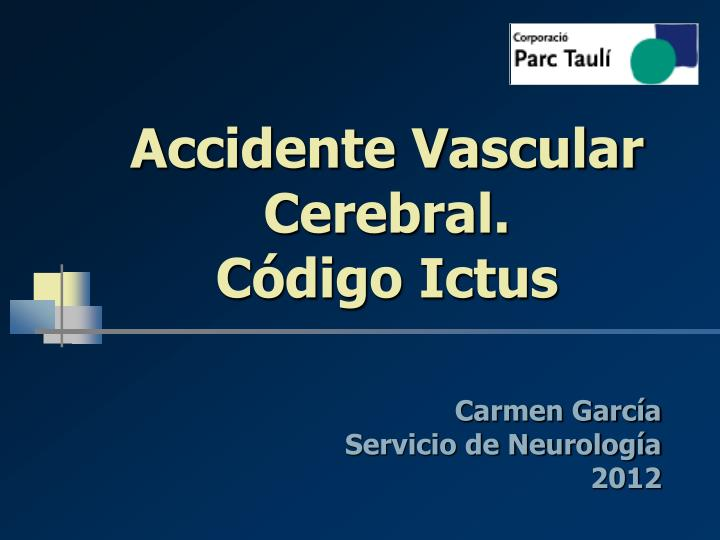 accidente vascular cerebral c digo ictus n.