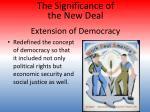 extension of democracy