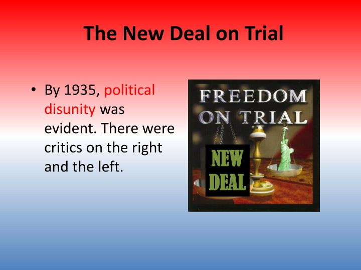 the new deal on trial n.