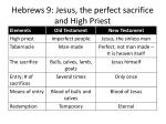 hebrews 9 jesus the perfect sacrifice and high priest