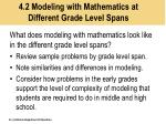 4 2 modeling with mathematics at different grade level spans