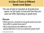 4 4 use of tools at different grade level spans