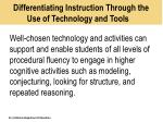 differentiating instruction through the use of technology and tools1