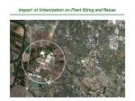 impact of urbanization on plant siting and reuse