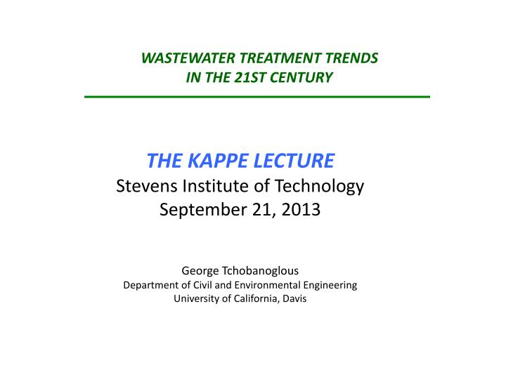 wastewater treatment trends in the 21st century n.