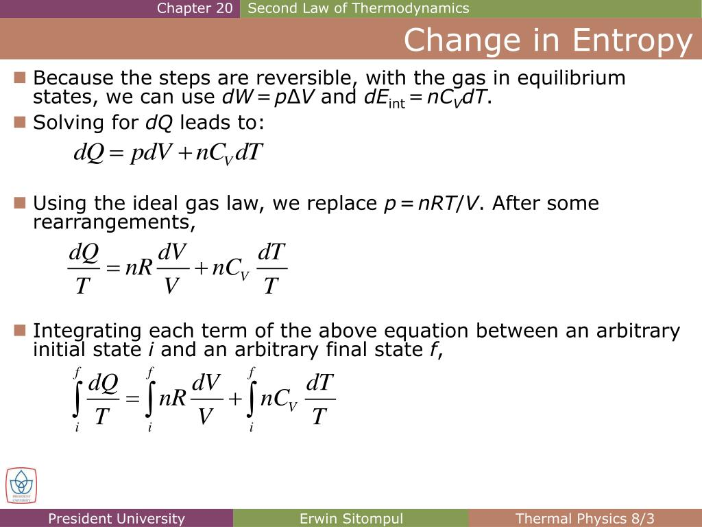 PPT Change in Entropy PowerPoint Presentation, free