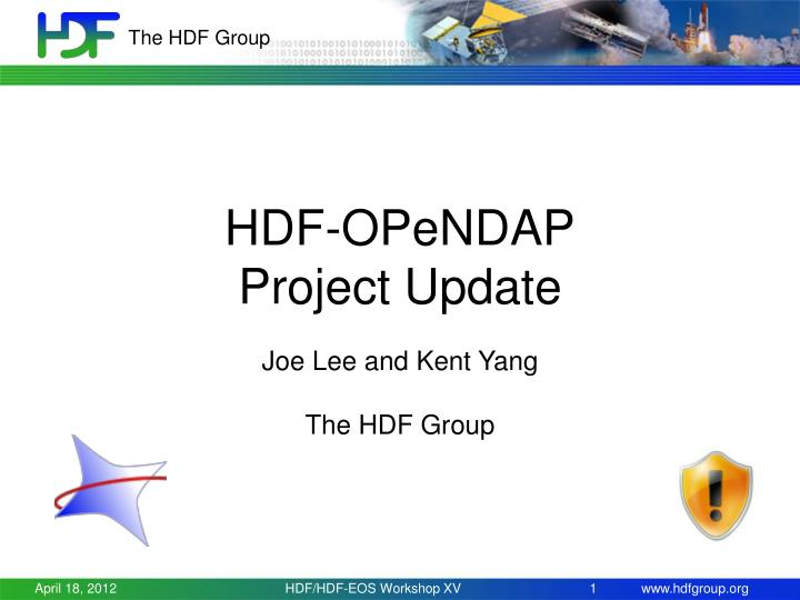 hdf opendap project update n.