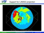 support for lamaz projection