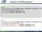 support for som projection