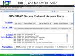 hdf 5 and file netcdf demo