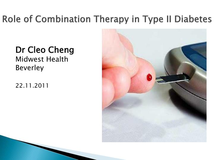 role of combination therapy in type ii diabetes n.