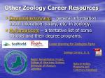 other zoology career resources
