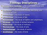 zoology disciplines