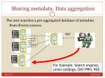 sharing metadata data aggregation