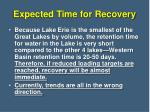 expected time for recovery