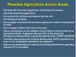 possible agriculture action areas