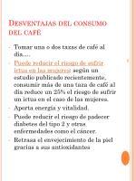 desventajas del consumo del caf