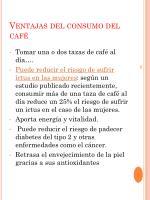 ventajas del consumo del caf