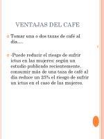 ventajas del cafe