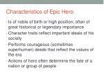 characteristics of epic hero