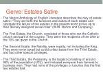genre estates satire