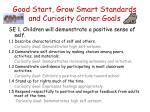 good start grow smart standards and curiosity corner goals