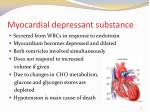 myocardial depressant substance