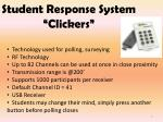 student response system clickers