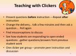 teaching with clickers