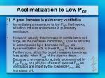 acclimatization to low p o21