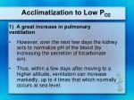 acclimatization to low p o22
