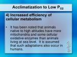 acclimatization to low p o26