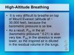 high altitude breathing