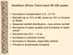 southern africa facts next 50 100 years