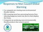 responses to man caused global warming
