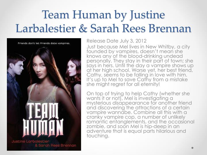 team human larbalestier justine brennan sarah rees