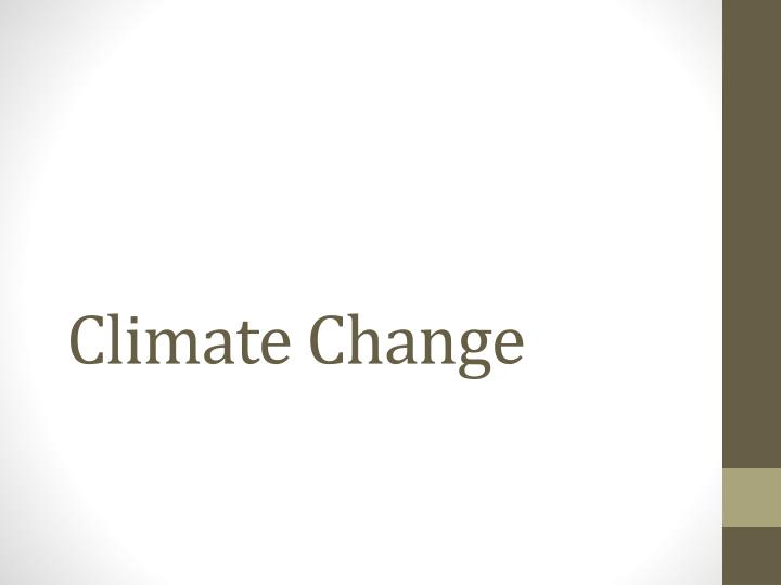 climate change n.