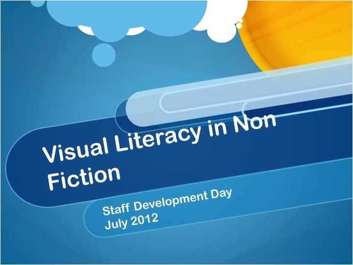 visual literacy in non fiction n.
