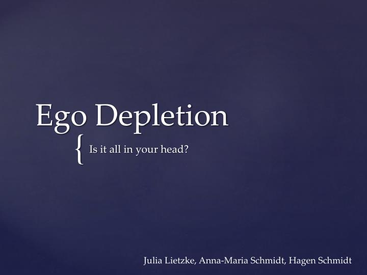 ego depletion n.