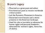 bryant s legacy