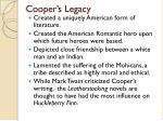 cooper s legacy