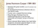 james fenimore cooper 1789 1851
