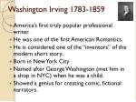 washington irving 1783 1859