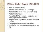 william cullen bryant 1794 1878