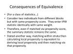 consequences of equivalence